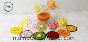Fruitige cocktail decoratie