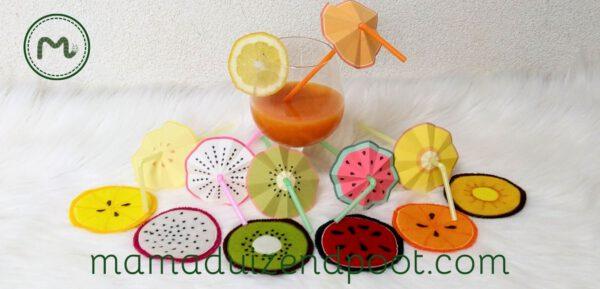 Fruitige cocktail decoratie