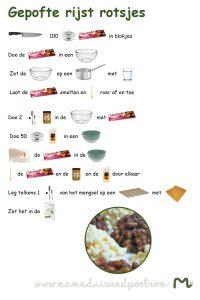 Kinderreceptenblad - Gepofte rijst rotsjes
