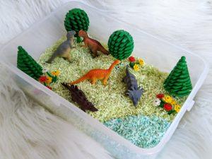 gekleurde rijst - landschap