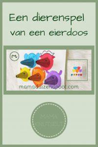 Pinterest - dierenspel van eierdoos