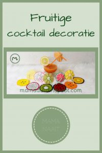 Pinterest - fruitige cocktail decoratie