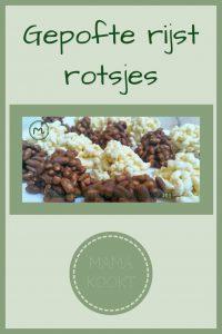 Pinterest - gepofte rijst rotsjes