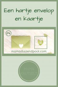 Pinterest - hartje envelop en kaartje