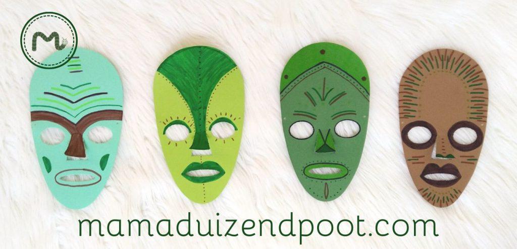 Afrikaanse maskers van papier