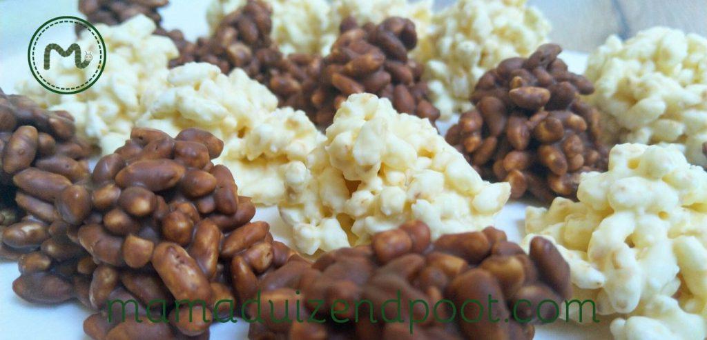 Gepofte rijst rotsjes