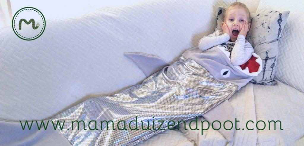 Een haai slaapzak