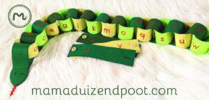 slang met knopen (alfabetslang)