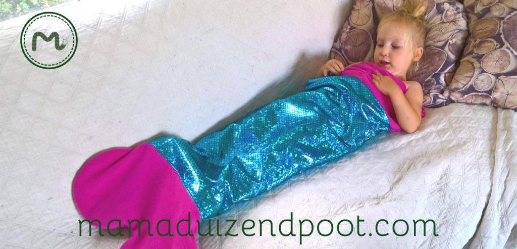 Een zeemeermin slaapzak