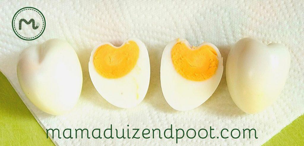 Een hartje van een gekookte ei
