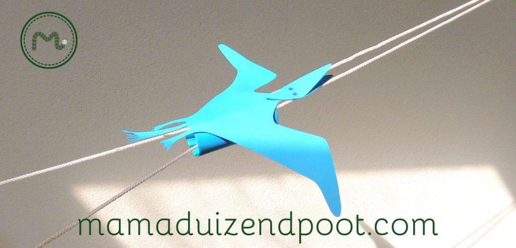 Een vliegende pterodactylus