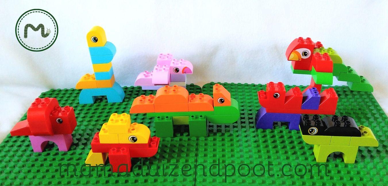 Dino's bouwen met Duplo