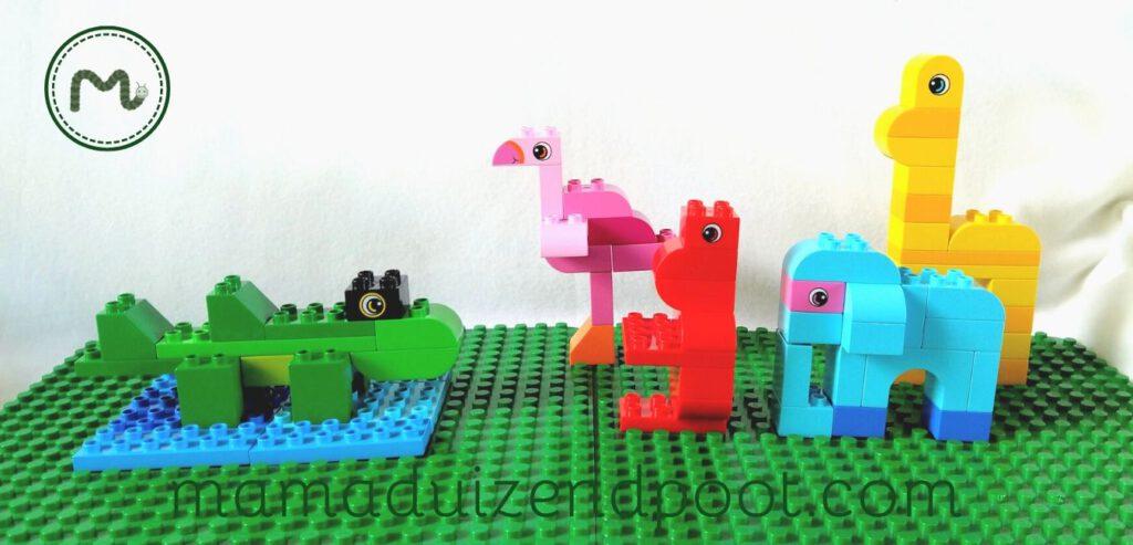 Wilde dieren bouwen met Duplo