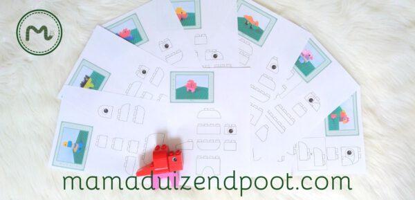 Duplo bouwkaarten - dino's