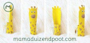 Giraf van een wc rol