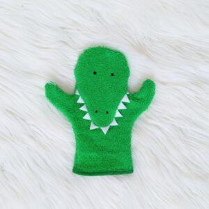 De hapgrage krokodil washandjes- krokodil