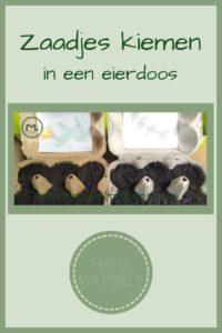 Pinterest - zaadjes zaaien en kiemen in eierdoos