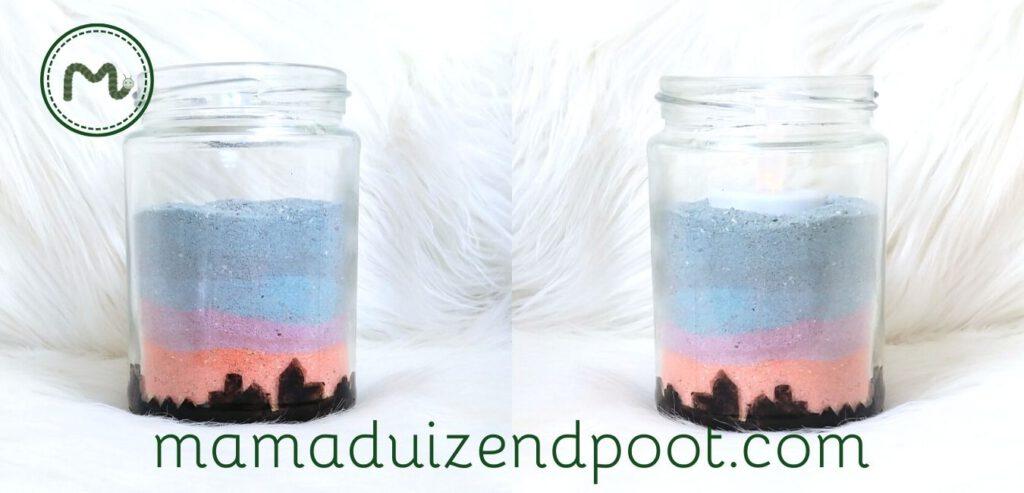 Gekleurd zand maken