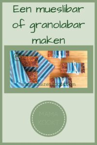 Pinterest - muesli bar of granola bar maken