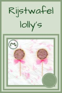 Pinterest - rijstwafel lolly's