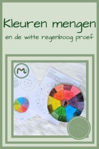 Pinterest - Kleurencirkel en witte regenboog proef