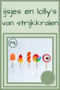 Pinterest - ijsjes en lolly's van strijkkralen