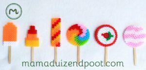 ijsjes en lolly's van strijkkralen