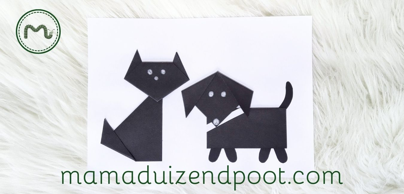 kat en hond vouwen