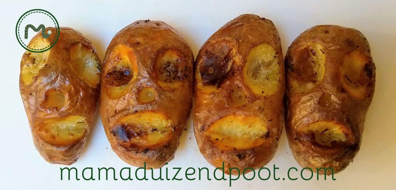 Aardappeltjes uit de oven of gekrompen hoofden