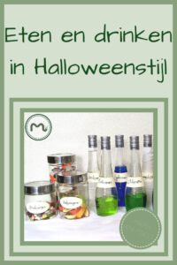 Pinterest - labels voor potjes en flessen Halloween