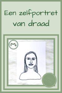Pinterest - zelfportret van draad