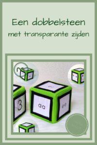 Pinterest - dobbelsteen met transparante zijden