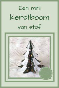 Pinterest - Een mini kerstboom van stof
