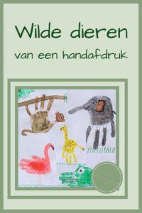 Pinterest - Wilde dieren van een handafdruk
