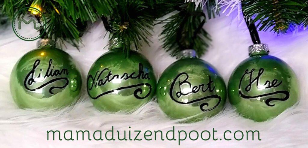 Persoonlijke kerstballen