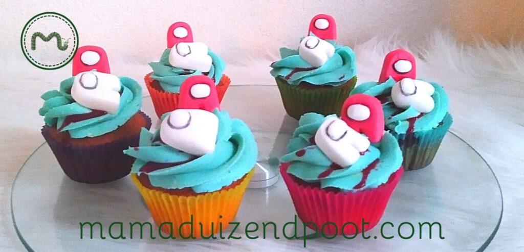 'Among Us' cupcakes