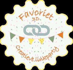 Button favoriet creatieve linkparty 3d
