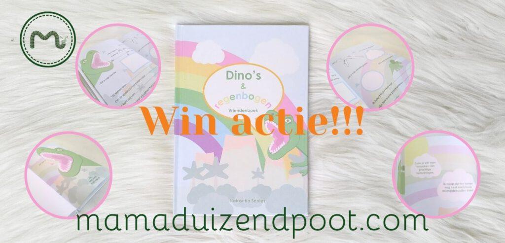 WIN ACTIE: Dino's en regenbogen vriendenboek