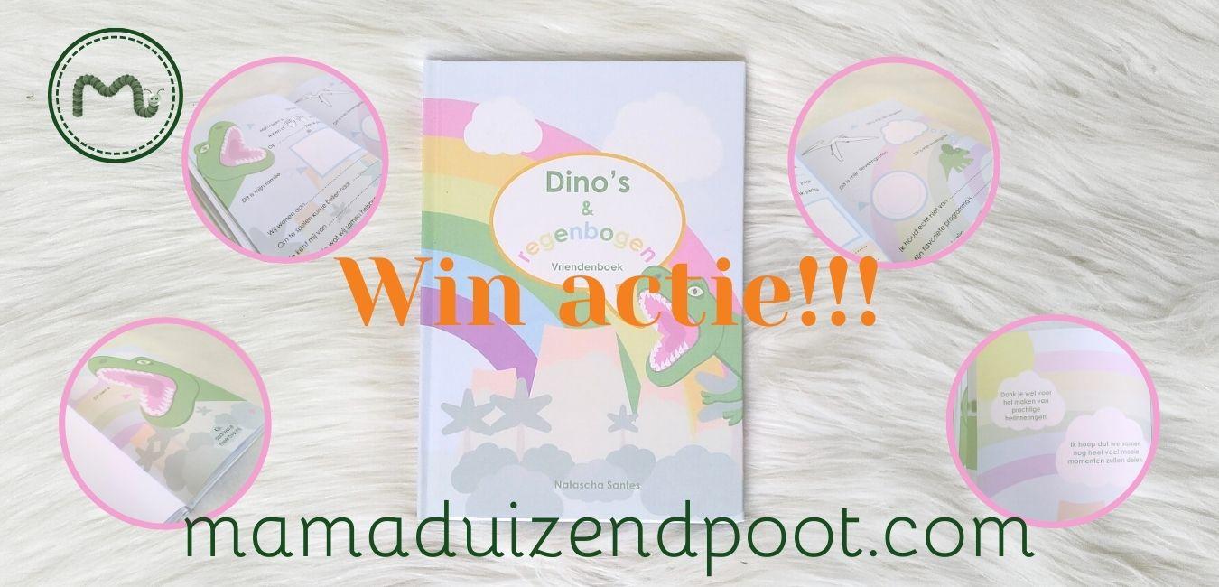 Dino's en regenbogen vriendboek win actie