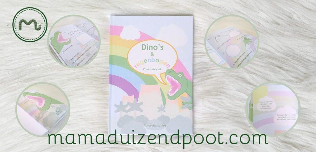 Dino's en regenbogen vriendenboek