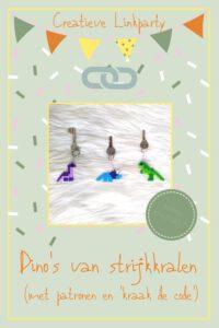 Pinterest - Dino strijkkralenpatronen en 'kraak de code'