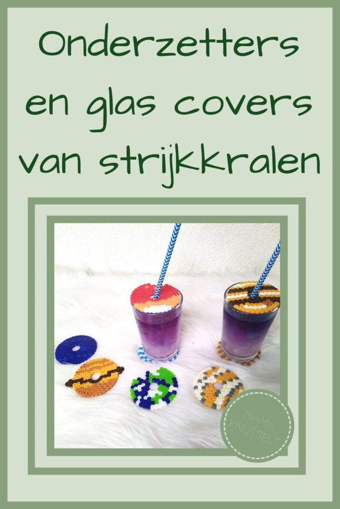 Pinterest - onderzetters en glas covers van strijkkralen