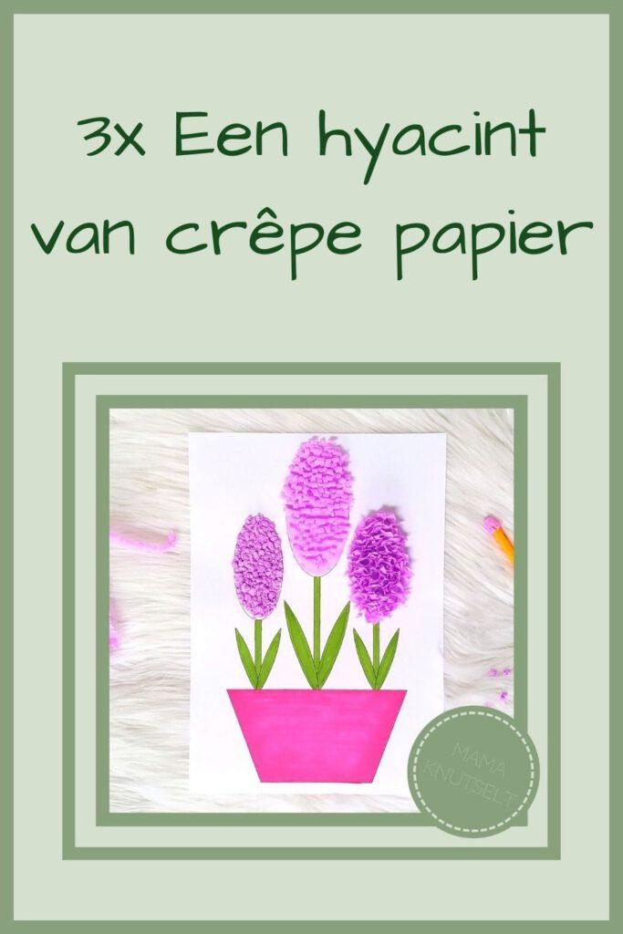 Pinterest - 3x Een hyacint van crêpe papier