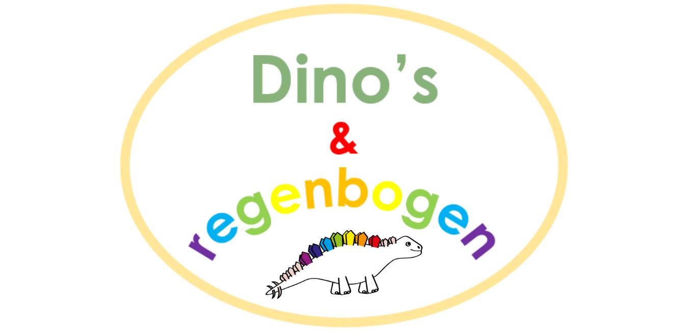 Dino's en regenbogen banner