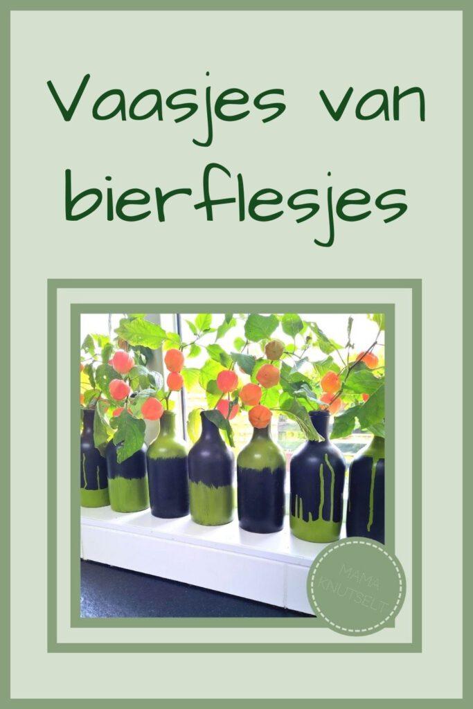 Pinterest - Vaasjes van bierflesjes
