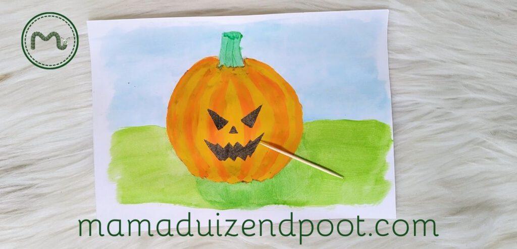 Ontwerp een pompoen lantaarn voor Halloween